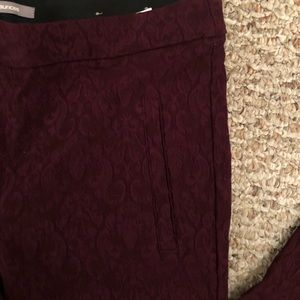 Maurices thick leggings, faux lace, Size Small